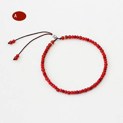 Meditation Buddhist Beads Red Rope Bracelet - OhioGem