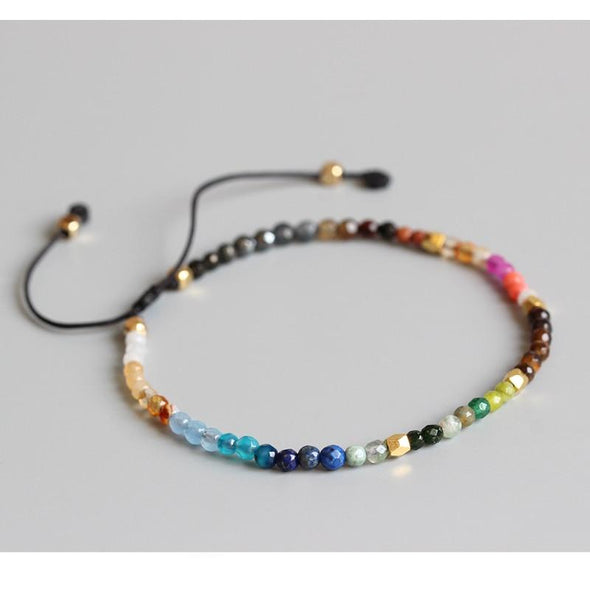 12 Constellation lucky stone  mini bracelet