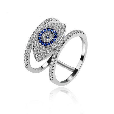 Blue Evil Eye Ring - OhioGem