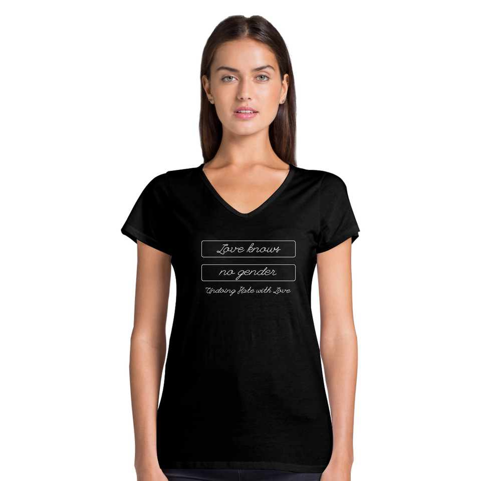 Love Knows No Gender Tee Version 3 - Women's Casual V-Neck Shirt