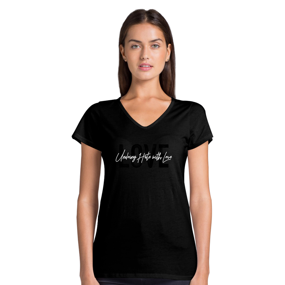 Love Tee Version 1 - Women's Casual V-Neck Shirt
