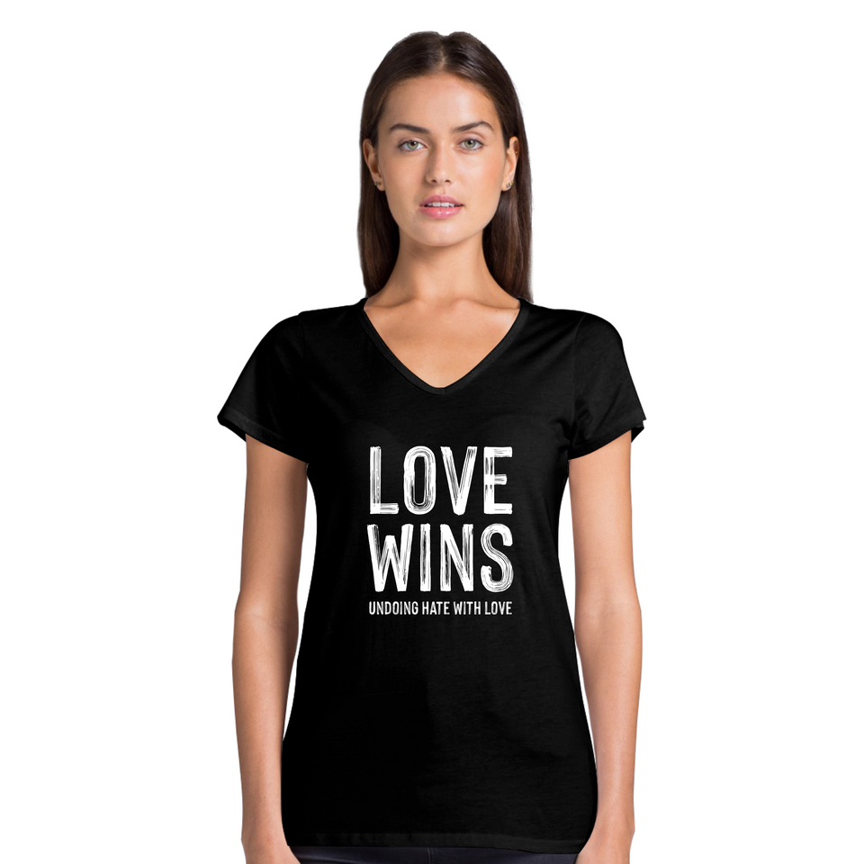 Love Wins Tee Version 2 - Women's Casual V-Neck Shirt