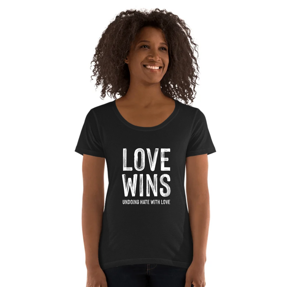 Love Wins Tee Version 2 - Ladies' Scoop Neck T-Shirt