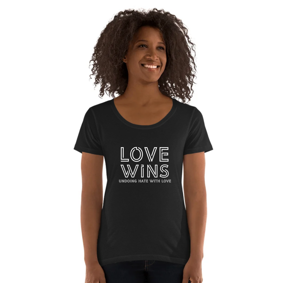 Love Wins Tee Version 3 - Ladies' Scoop Neck T-Shirt