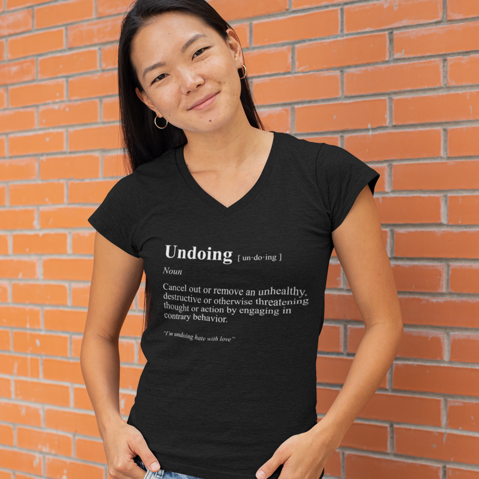 Undoing Definition Tee Version 3 - Women's Casual V-Neck Shirt