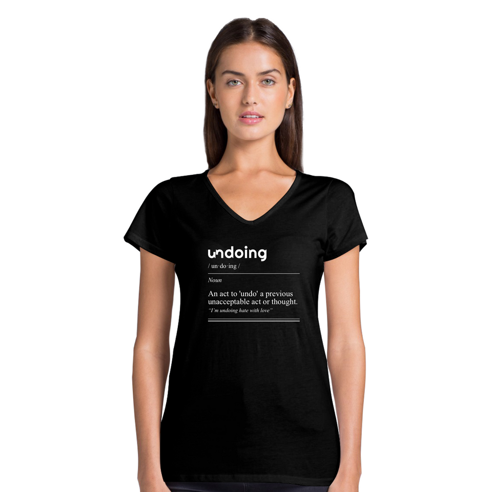 Undoing Definition Tee Version 2 - Women's Casual V-Neck Shirt