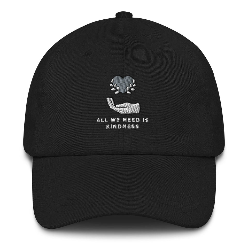 All We Need is Kindness Baseball Cap black mental health awareness hat