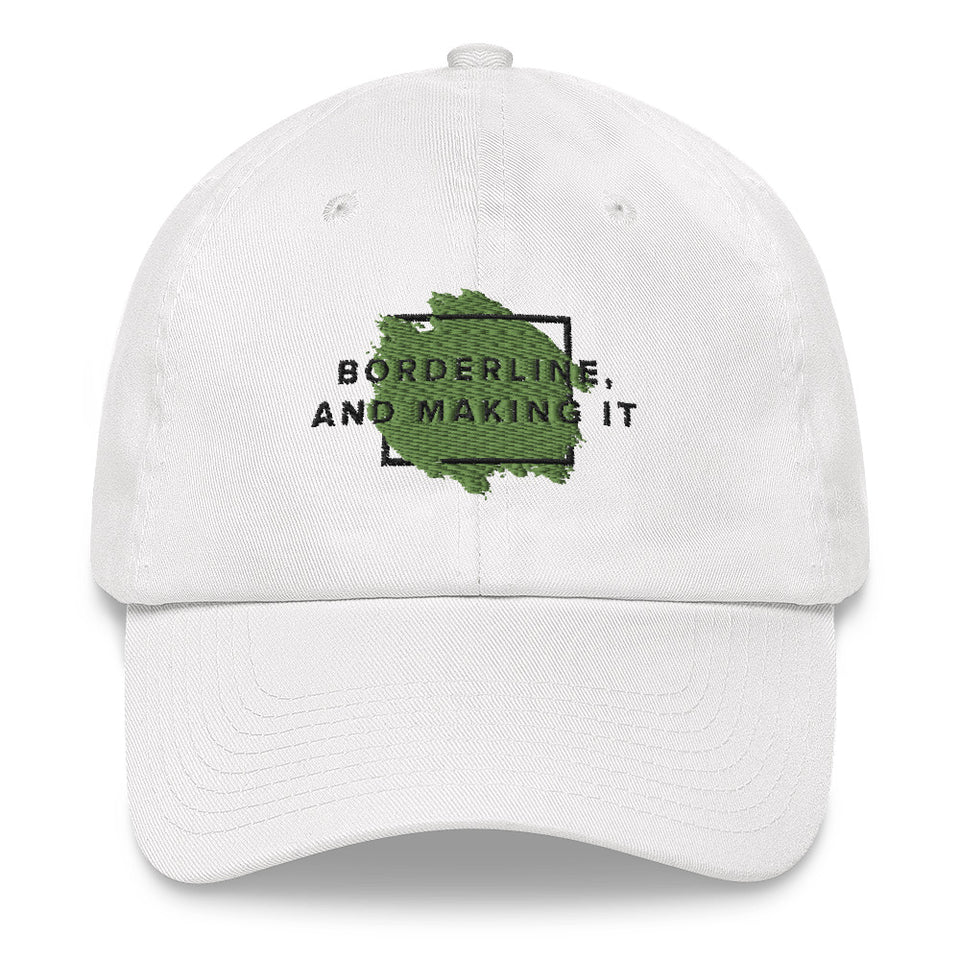 Borderline, and making it Baseball Cap white mental health awareness baseball cap by Undoing