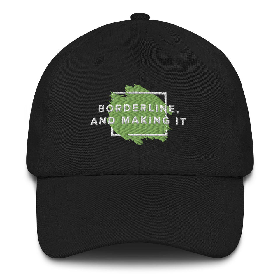 Borderline, and making it Baseball Cap black mental health awareness hat by Undoing