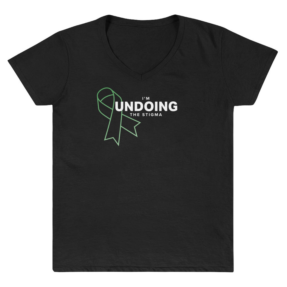 I'm Undoing The Stigma Mental Health Symbol - Black Women's Casual V-Neck Shirt by Undoing