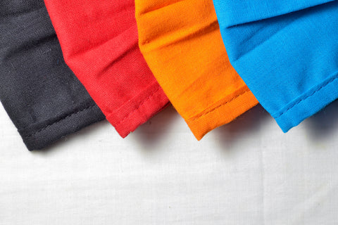 Plain Assorted Colors Fabric Protection Mask (PACK OF 8)