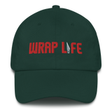 Wrap Life (red) - Embroidered Dad Hat