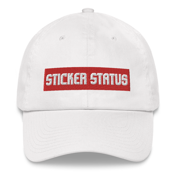 Classic Embroidered Sticker Status Dad Hat