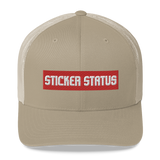 Classic Embroidered Sticker Status Trucker Cap