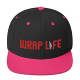 Wrap Life (red) - Embroidered Snapback