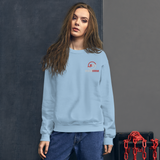 Unisex Embroidered Pull-Over Sticker Status Sweater (Gildan)