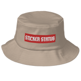 Old School Embroidered Sticker Status Bucket Hat