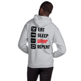 Eat, Sleep, Wrap, Repeat - Unisex Hoodie