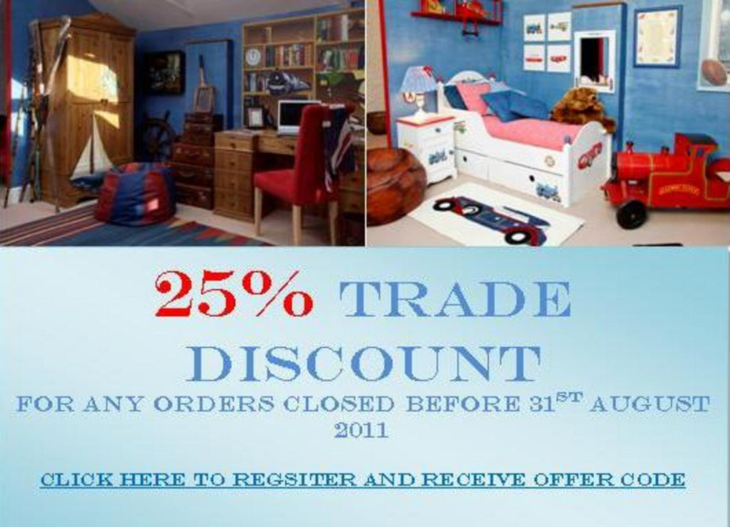 25% Trade Discount until 31st August 2011