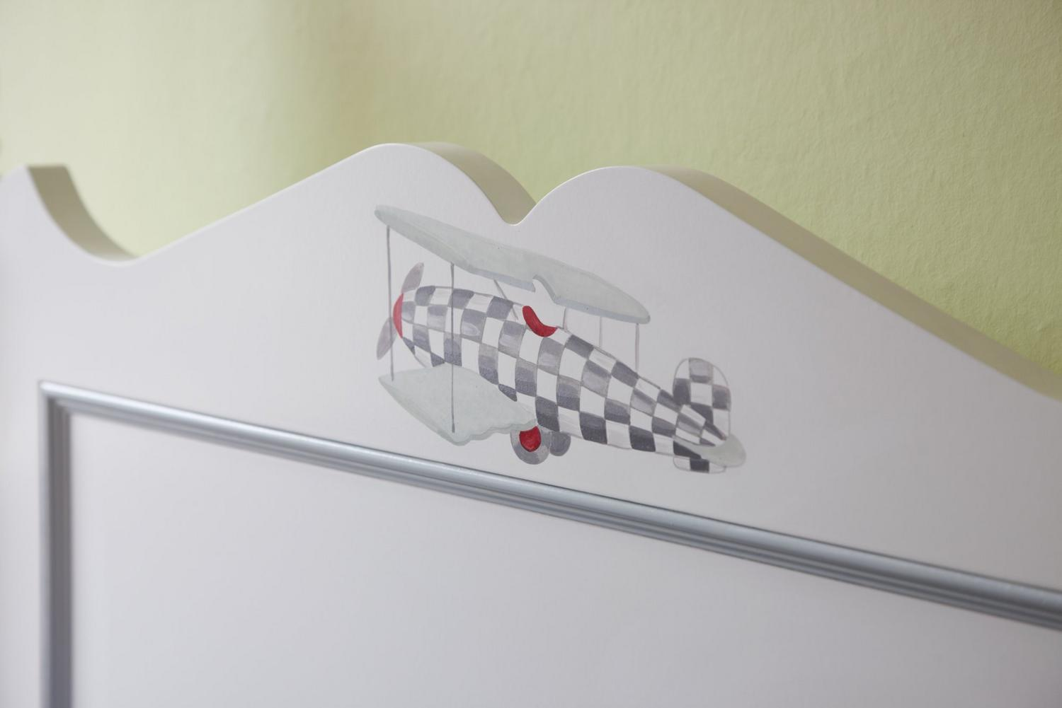 Vintage airplane painting for Vintage Transport themed kids room | Dragons of Walton Street