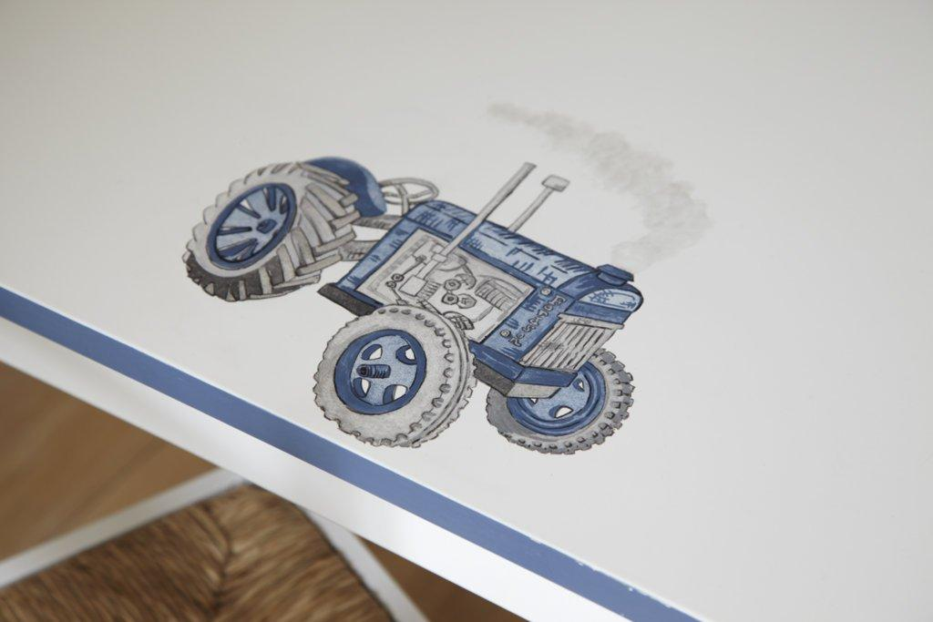 Tractor painting for Vintage Transport themed kids room | Dragons of Walton Street