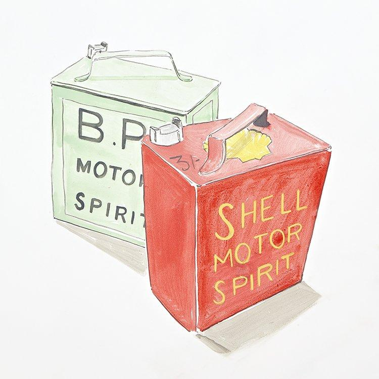 Motor spirit painting for Vintage Transport themed kids room | Dragons of Walton Street
