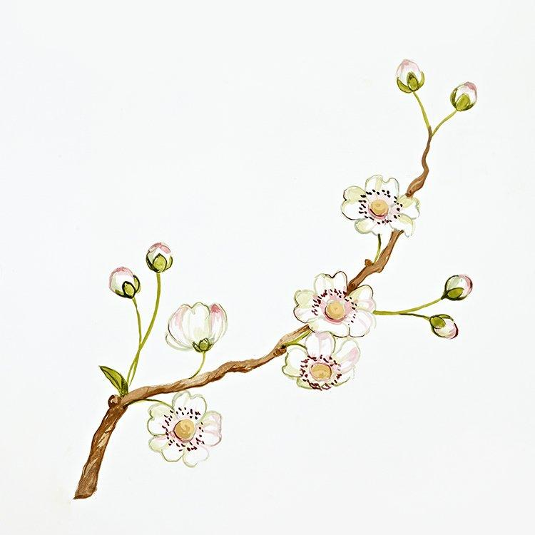 Blooming branch from Linen Blossom Artwork Theme | Dragons of Walton Street
