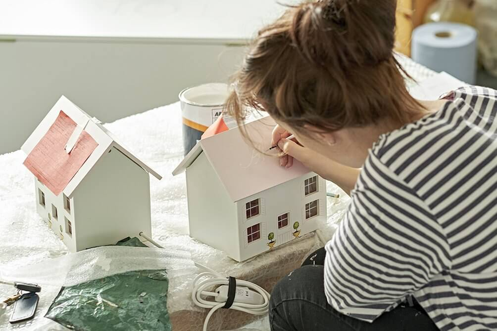 Painting the furniture | Design process at Dragons of Walton Street