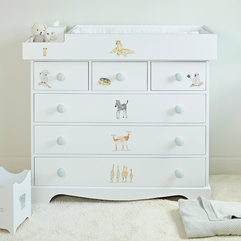 Extra Large Baby Changer and Chest of Drawers