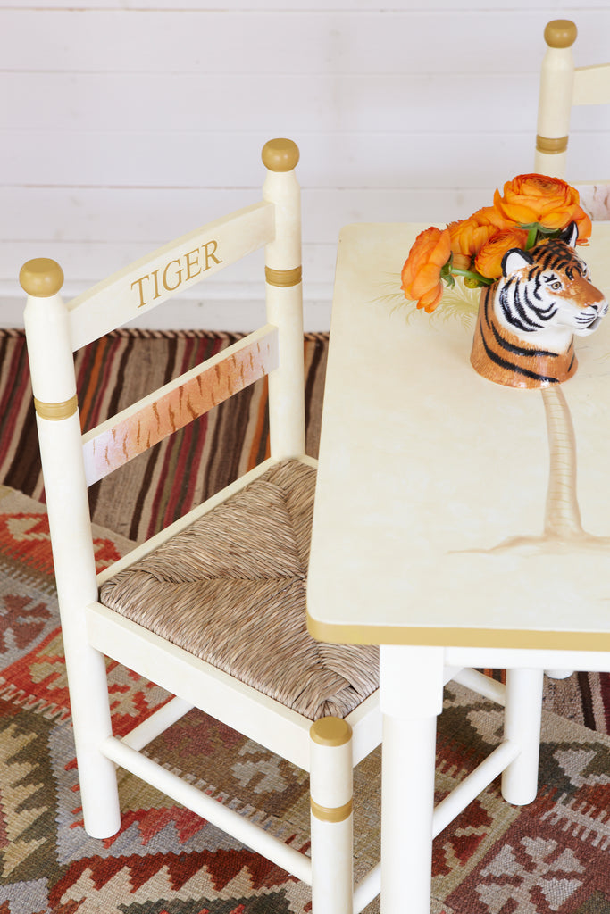 'Tiger' Rush Seated Chair