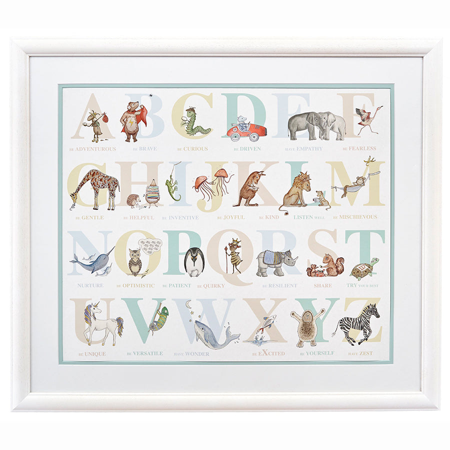 My Feelings Alphabet Framed Print
