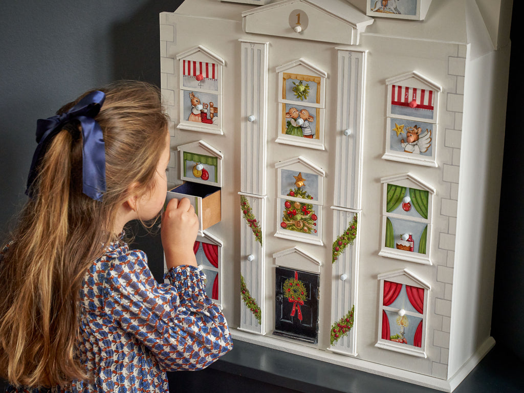 Dolls House Christmas Calendar with drawers | Dragons of Walton Street