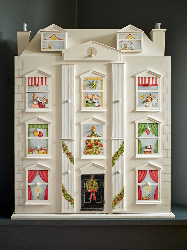 Dolls House Christmas Calendar - Front view | Dragons of Walton Street