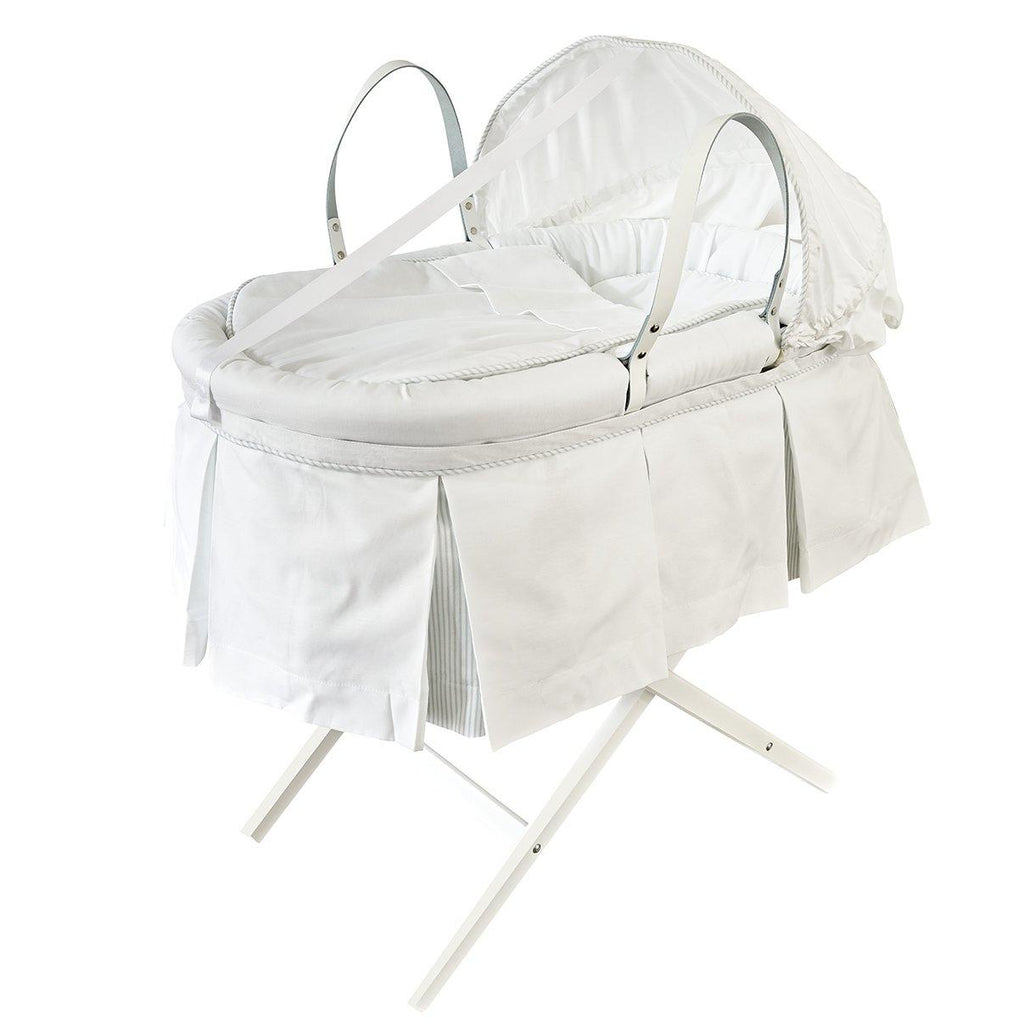 Moses Basket with a Pleated Skirt and Hood