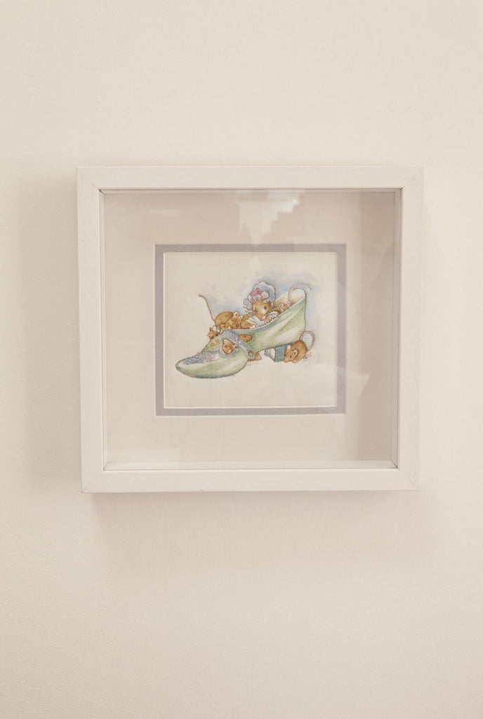 Embroidered Beatrix Potter Pictures Framed