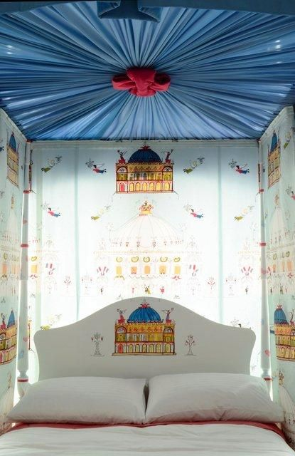 Double four poster kids bed | Dragons of Walton Street