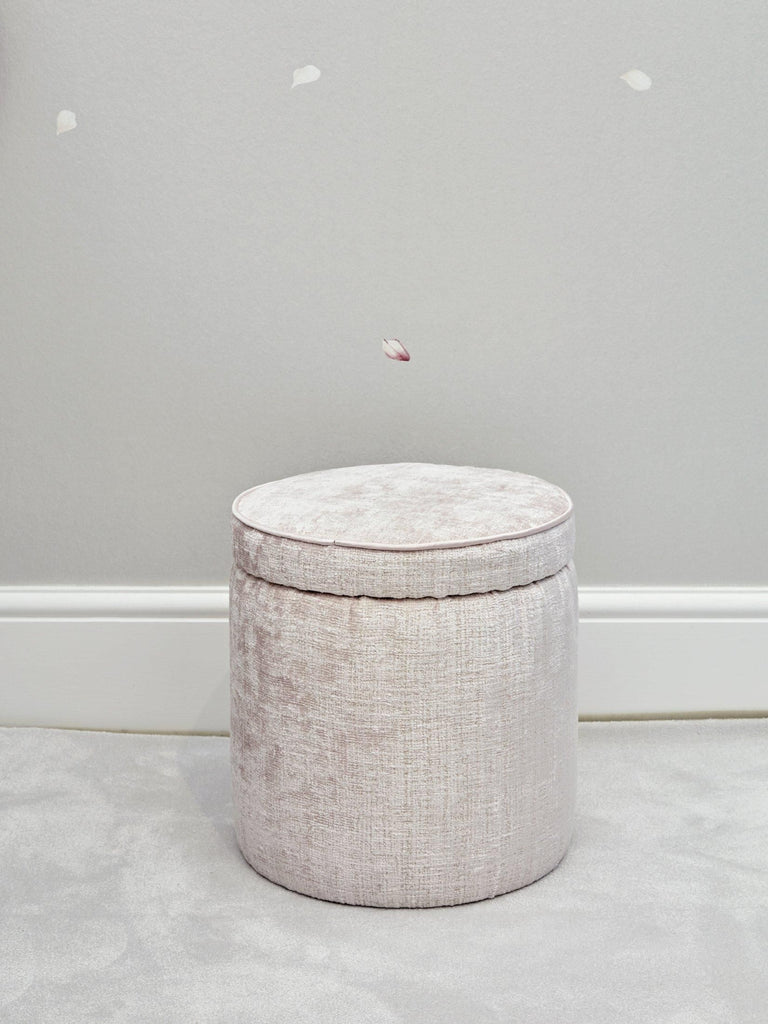 Piped Round Pouffe - Small