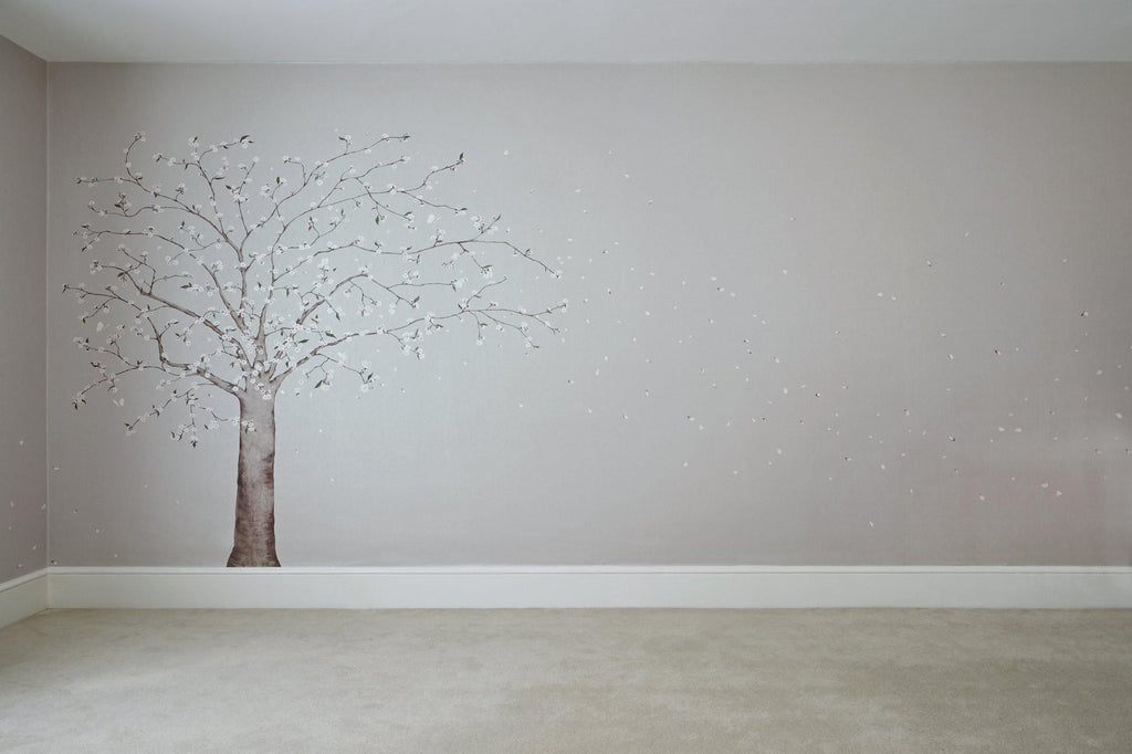 Blossom Tree & Falling Petals Wallpaper