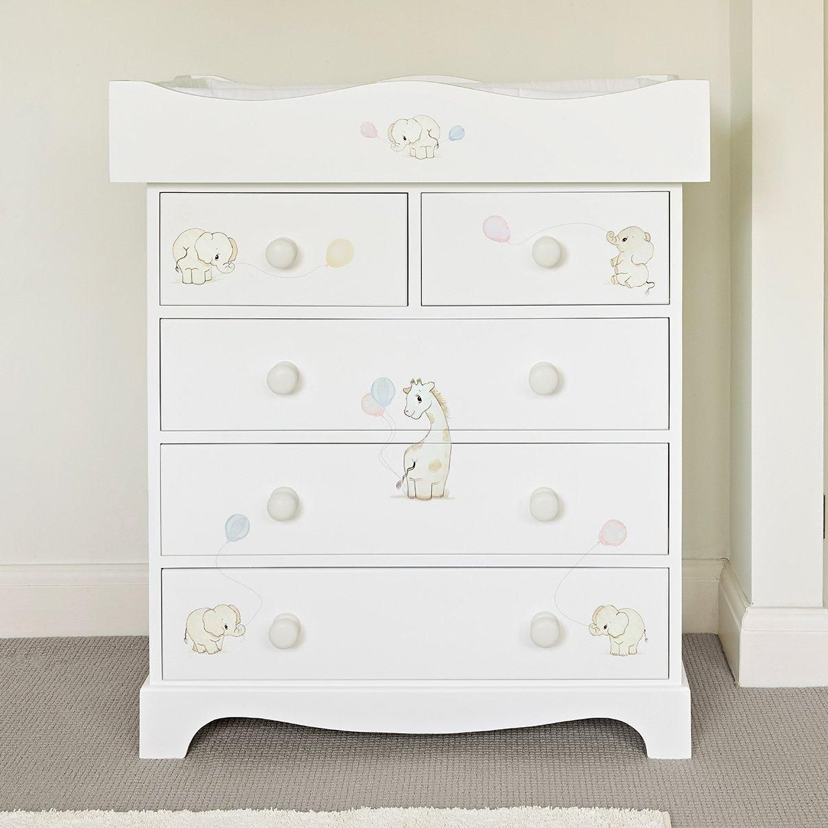 Kids dresser with changing top
