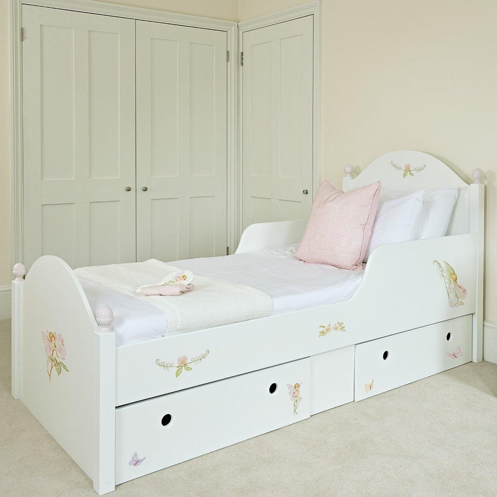 Large Single Oliver Kids Bed with drawers, Flower Fairies paintings | Dragons of Walton Street