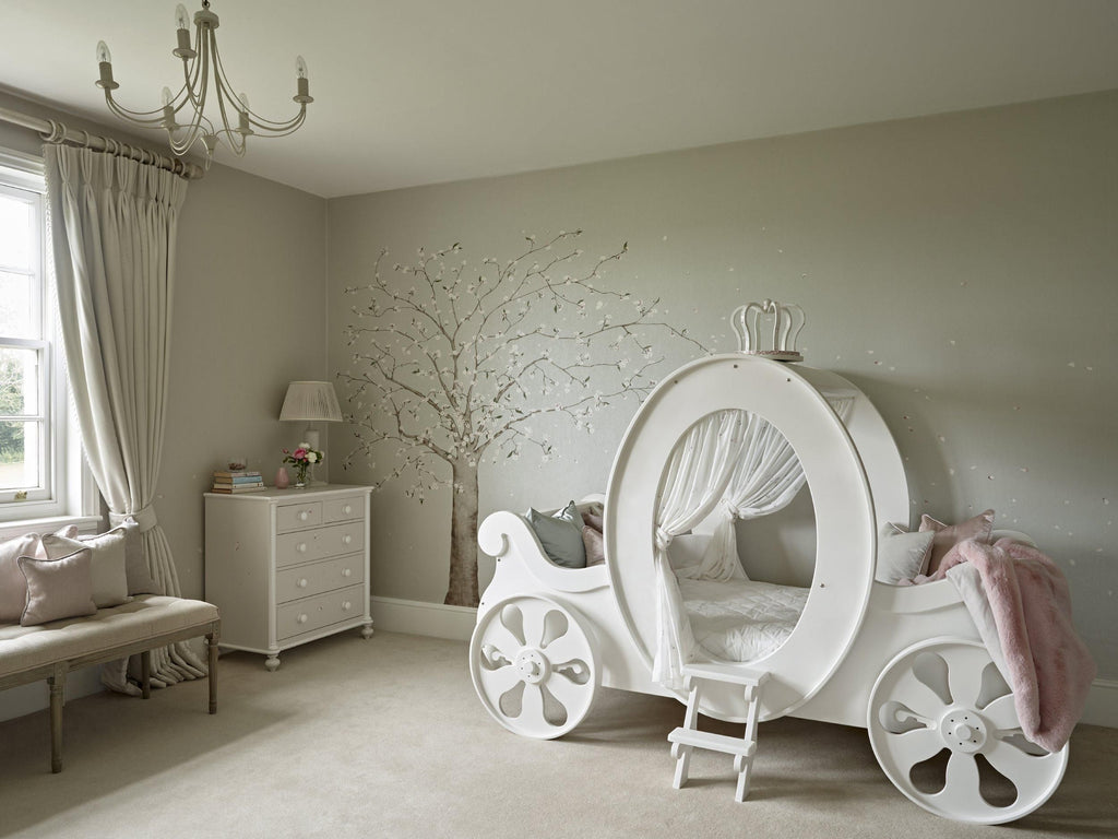 Princess carriage bed | White wooden carriage bed | Dragons of Walton Street
