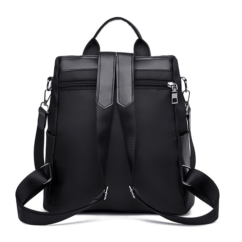 Simple oxford cloth backpack,Fashion backpack-black