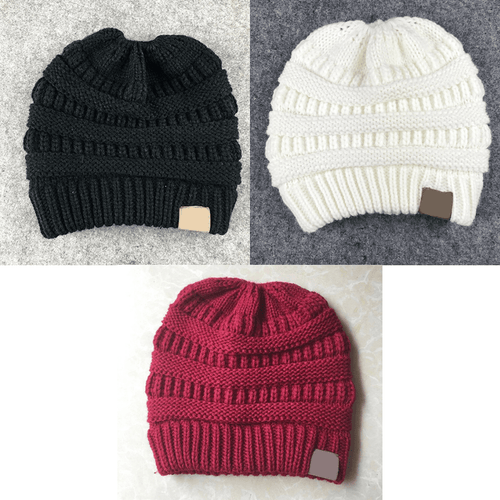 Soft Knitted Ponytail Beanie - BUY 1, GET 2 FREE - GoinsShop