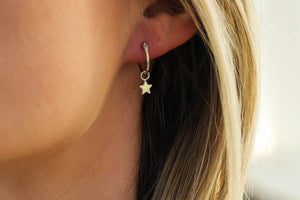 Star Hoop Earrings - GoinsShop