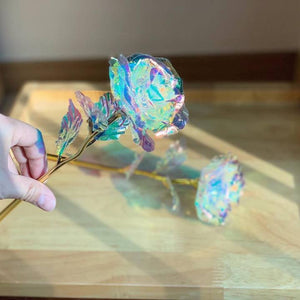 24K Gold Foil Rose Flower LED Luminous Galaxy Mother's Day Valentine's Day Gift - GoinsShop