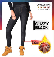 Load image into Gallery viewer, Double Fleece Thermal Jeanish Pants - GoinsShop