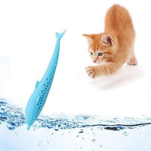 Load image into Gallery viewer, Pet Cat Fish Shape Catnip Toothbrush Toy Doll - GoinsShop