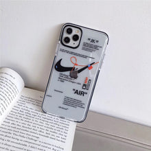 Load image into Gallery viewer, Nike×Off White Clear  Phone Case - GoinsShop