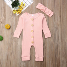 Load image into Gallery viewer, Karley Long Sleeve Button Onesie - GoinsShop