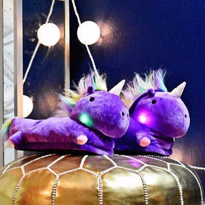 Light-Up Comfy Soft Unicorn Slippers - GoinsShop